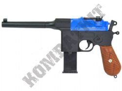 G12 Mauser C96 Machine Pistol Replica Spring Airsoft BB Gun 2 Tone Blue Black Metal
